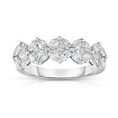 Womens 1 1/3 CT. T.W. White Diamond 14K Gold Band