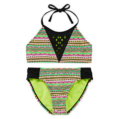 Breaking Waves Girls Solid Bikini Set - Big Kid