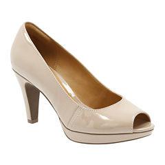 Clarks® Narine Rowe High-Heel Pumps - Wide Width