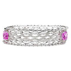 Lab-Created Pink Sapphire & Diamond-Accent 3-pc. Bangle Bracelet Set