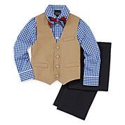 4-pc Twill Vest Set -  Boys 4-10