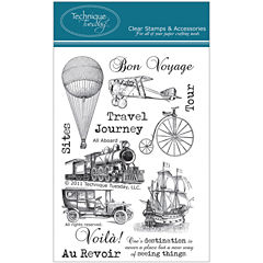 Technique Tuesday Clear Stamps - All Aboard