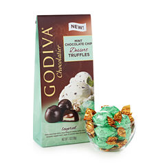 Gdiva Dark Mint Chocolate Chip Truffles