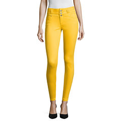 Blue Spice High Waist Ankle Skinny Pants-Juniors