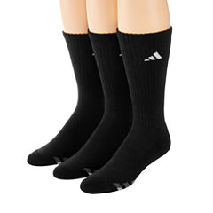 adidas® 3-pk. Athletic Cushioned Crew Socks