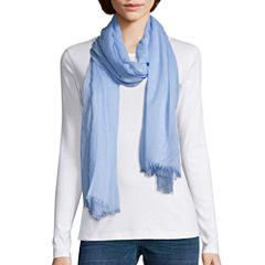 Mixit Solid Essential Raw Edge Scarf