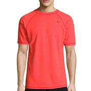Nike Solid Short Sleeve Swim Tee 40+ UPF Protection