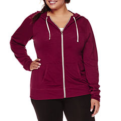 Flirtitude Long Sleeve Jersey Hoodie Juniors Plus