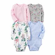 Carter's Girls 4-pc. Bodysuit Set-Baby