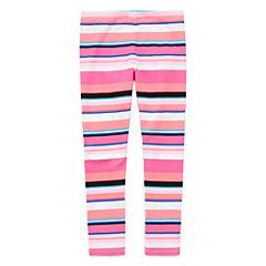 Okie Dokie Floral Knit Stripe Leggings - Preschool
