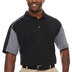 PGA TOUR Short Sleeve Airflux Color Block Polo- Big & Tall