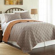 Pacific Coast Textiles Lattice 3-pc. Coverlet Set