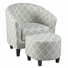 Home Meridian Fabric Club Chair