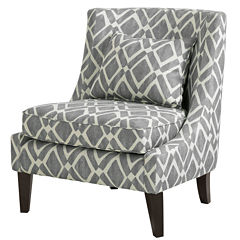 Madison Park Kyerin Swoop Fabric Club Chair