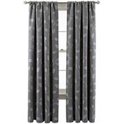 MarthaWindow™ Hampton Leaf Rod-Pocket/Back-Tab Curtain Panel
