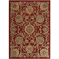 Nourison® Royal Essence High-Low Carved Rectangular Rug