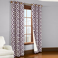 Trellis 2-Pack Thermal Cotton Grommet-Top Curtain Panels
