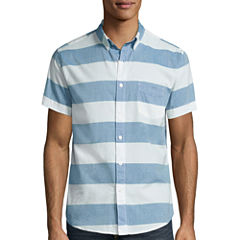 Arizona Stripe Poplin Button-Front Shirt