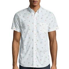 Arizona Short Sleeve Floral Button-Front Shirt