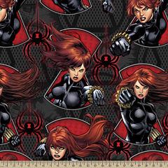 Marvel Black Widow Fleece Fabric By The Yard