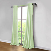 JCPenney Home Made-To-Length Linen Grommet-Top Poly-Cotton Lined Curtain Panel