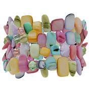Mixit Womens Multi 4 Row Stretch Bracelet