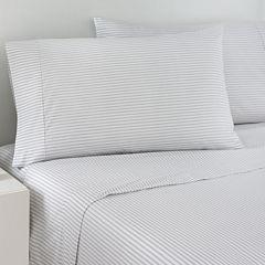 IZOD® Gray Ticking Stripe Sheet Set