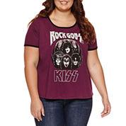 KISS Graphic T-Shirt- Juniors Plus