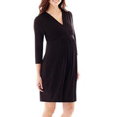 Maternity 3/4-Sleeve Knit Dress - Plus