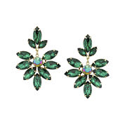1928® Green Gold-Tone Marquise Statement Earrings