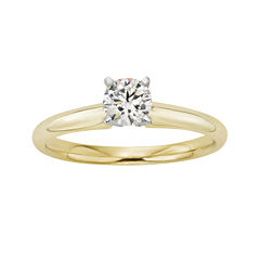 1/2 CT. Certified Diamond 18K Yellow Gold Solitaire Ring