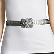 Text Stretch Metal Filigree Buckle