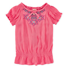 Arizona Short Sleeve Peasant Top- Toddler