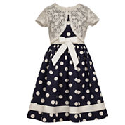 Bonnie Jean Short Sleeve Fit & Flare Dress - Girl's 7-16 and Plus