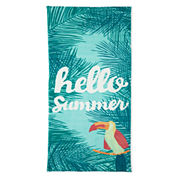 Outdoor Oasis Hello Summer Printed Beach Towel