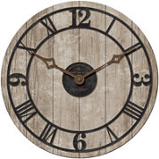 FirsTime® Reclaimed Whitewash Wall Clock