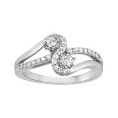 Two Forever™ 1/4 CT. T.W. Diamond 10K White Gold Ring