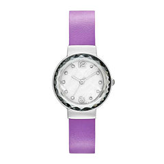 Womens Faceted Crystal Watch