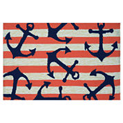 Couristan Anchors Away Hooked Rectangle Rugs