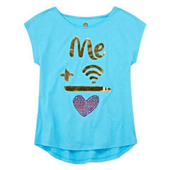 Total Girl® Short-Sleeve Graphic Tee - Girls 7-16 and Plus