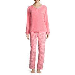 Pj Couture Plush Pant Pajama Set-Juniors