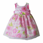 Pinky Sleeveless Empire Waist Dress - Baby