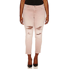 Arizona Plus Rose Quartz Destructed Skinny