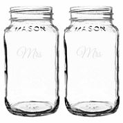 Cathy's Concepts Mrs. & Mrs. 2-pc. Mason Jar