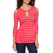 Bisou Bisou Long Sleeve Round Neck T-Shirt