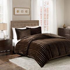 Madison Park Duke Faux Fur Mini Comforter Set