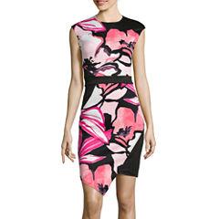 Bisou Bisou® Sleeveless Floral Sheath Dress
