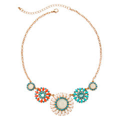 Arizona Faceted Floral Necklace