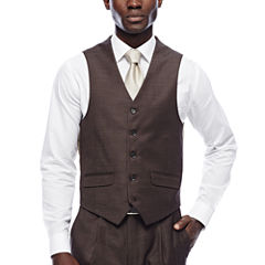 Steve Harvey® Brown Shantung Vest