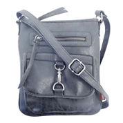Union Bay Buckle And Zip Crossbody Bag